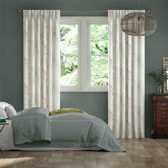 Summer Meadow Magenta Curtains