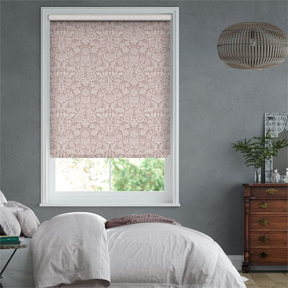William Morris Sunflower Dusky Rose Roller Blind
