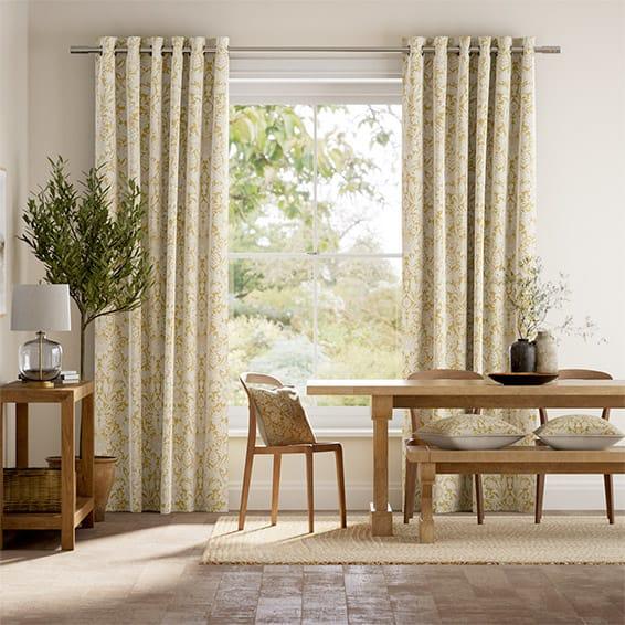 William Morris Sunflower Honey Curtains