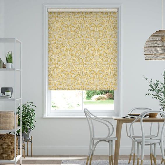 William Morris Sunflower Honey Roller Blind