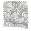 William Morris Sunflower Silver Grey Roman Blind slat image