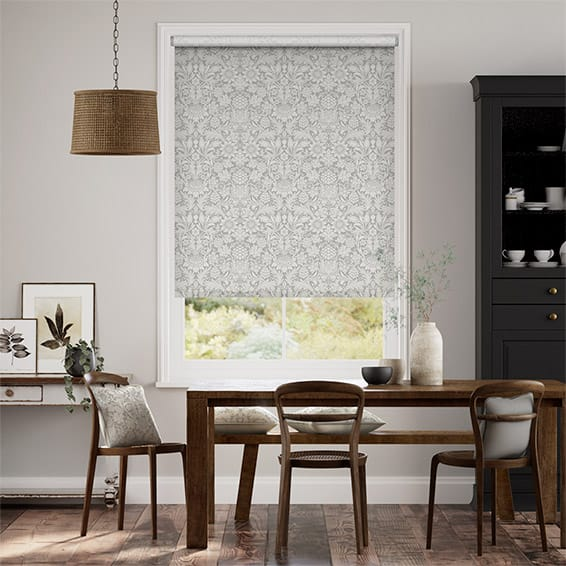 William Morris Sunflower Silver Grey Roller Blind