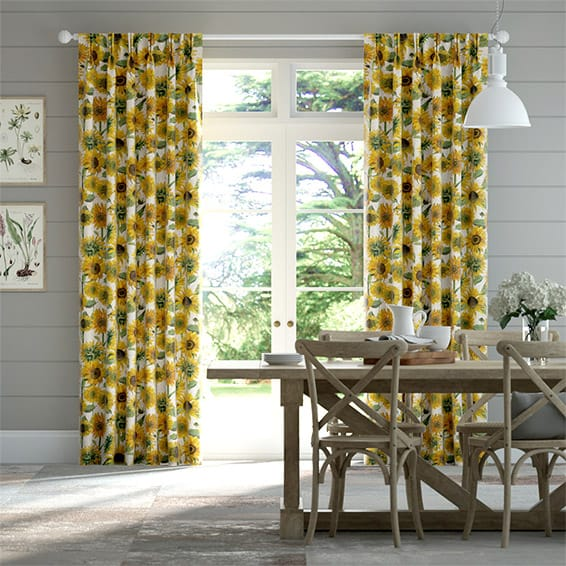 Sunflowers Yellow Curtains