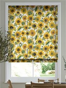 Sunflowers Yellow Roman Blind thumbnail image