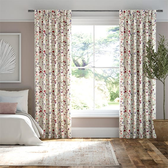 Sweet Pea Lilac Curtains