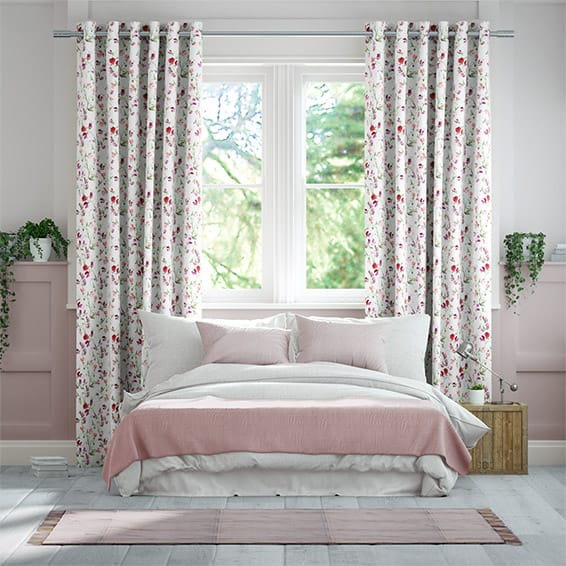 Sweet Pea Pink Curtains