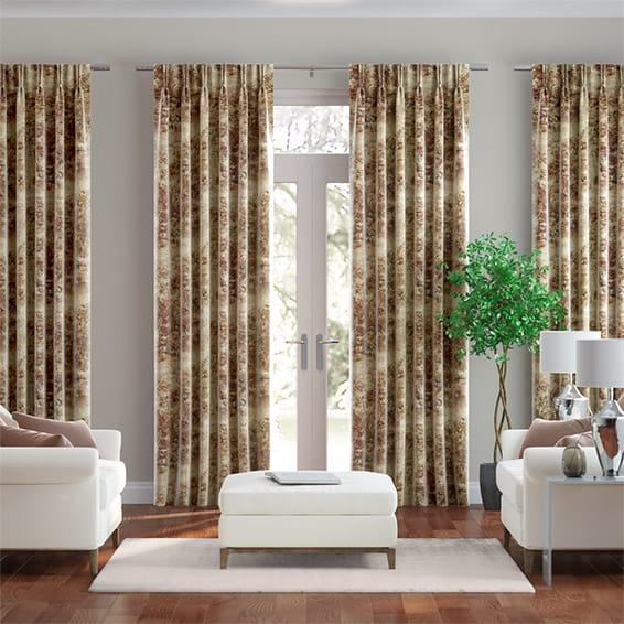 Sylvan Vintage Linen Spice Curtains