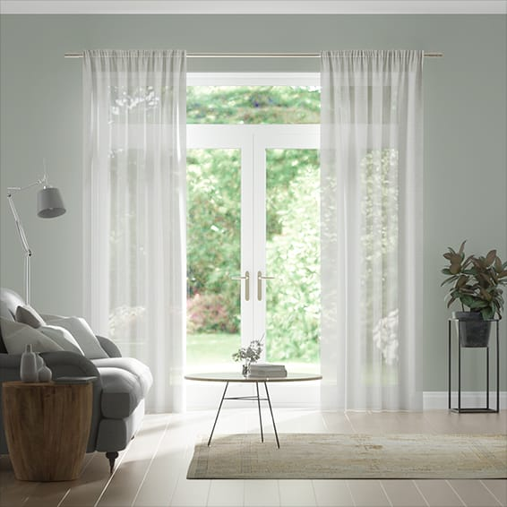 Tahiti Voile Snow Curtains