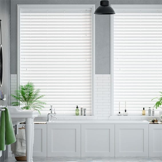 Tampa Alpine White  Faux Wood Blind