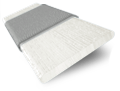 Tampa Cool White & Silver Faux Wood Blind - 50mm Slat sample image
