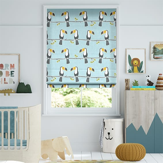 Terry Toucan Sky Roman Blind