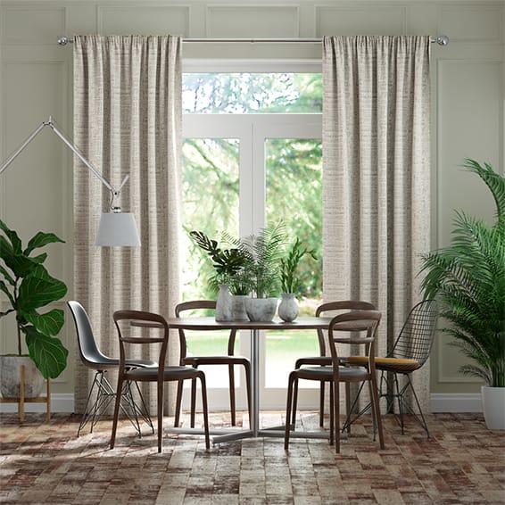 Thalia White Gold Curtains