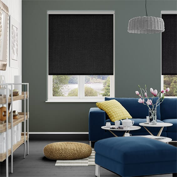 Thermal Luxe Dimout Charcoal Roller Blind