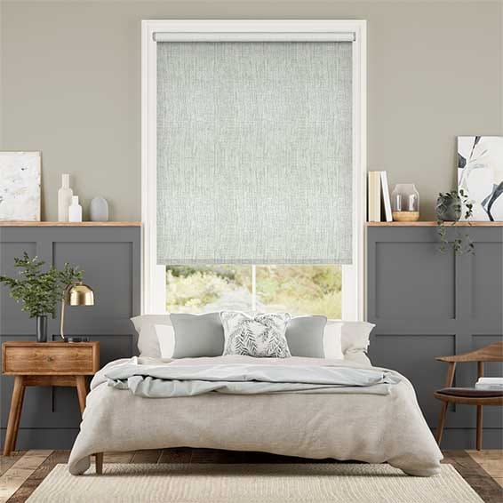 Electric Thermal Luxe Dimout Limestone Roller Blind