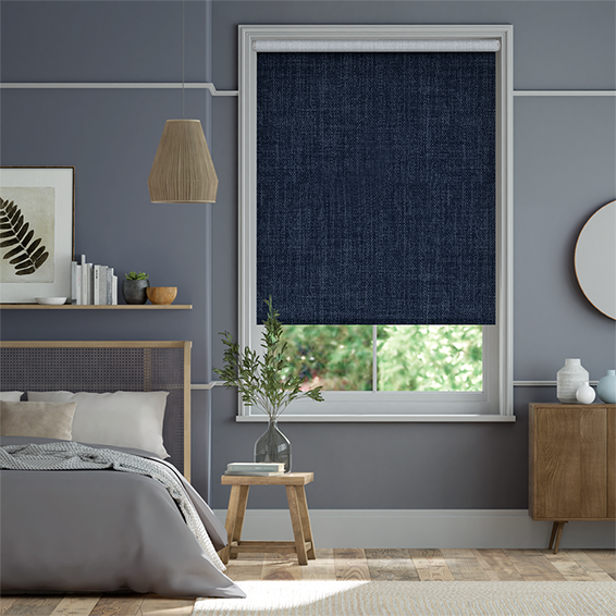 Electric Thermal Luxe Dimout Twilight Blue Roller Blind
