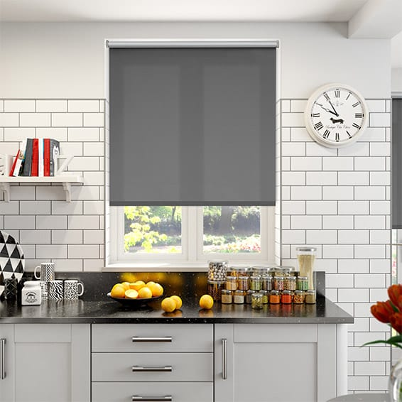 Thermal Plus City Grey Energy Saving Roller Blind