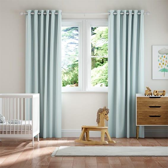 Tiger Stripe Aqua Curtains