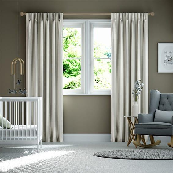 Tiger Stripe Dove Grey Curtains