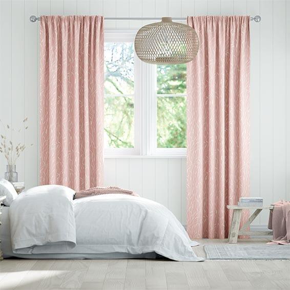 Timothy Grass Blush Curtains