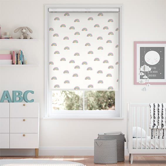 Tiny Rainbows Blackout Candy Roller Blind