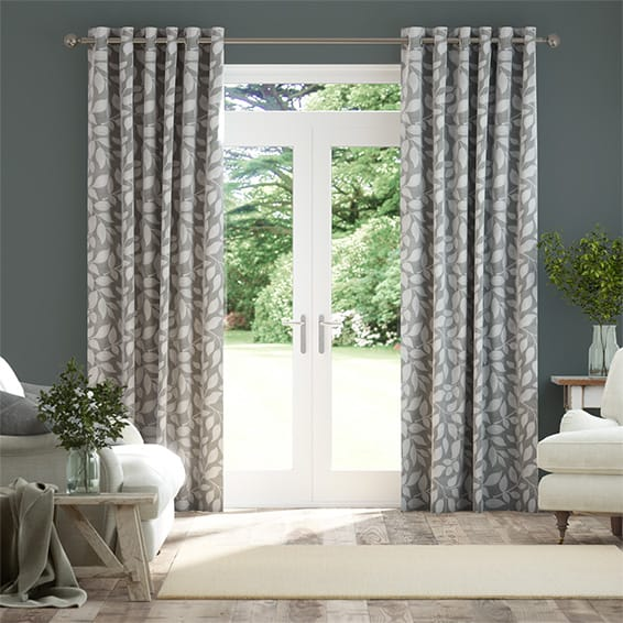 Toscana Pearl Grey Curtains