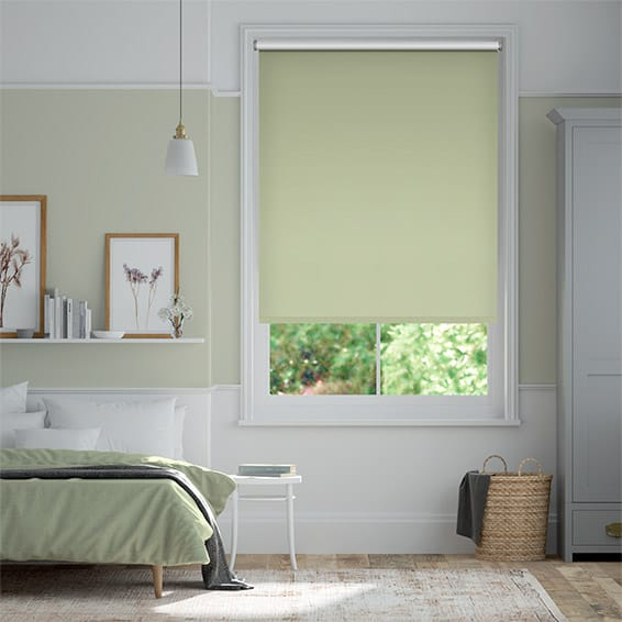 Toulouse Blackout Mint Green Roller Blind
