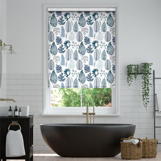 Tropical Leaves Midnight Roller Blind