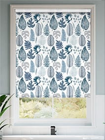 Tropical Leaves Midnight Roller Blind thumbnail image