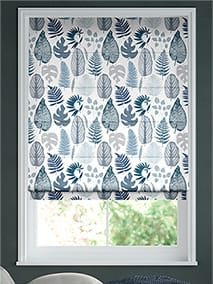 Tropical Leaves Midnight Roman Blind thumbnail image