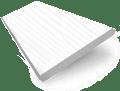 True White  Faux Wood Blind - 64mm Slat slat image