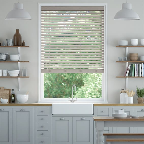 Truffle Grey Wooden Blind - 50mm Slat