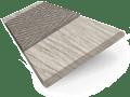 Truffle Grey & Putty - 50mm Slat sample image