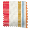 Truro Stripe Candy Red Curtains swatch image