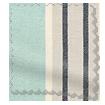 Tutbury Stripe Aqua Roman Blind swatch image