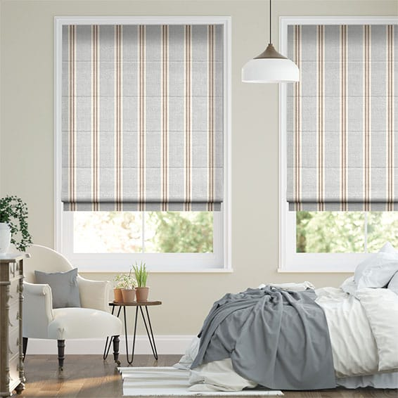 Tutbury Stripe Winter Sky Roman Blind