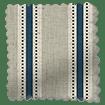 Twill Stripe Linen Deep Blue Curtains slat image
