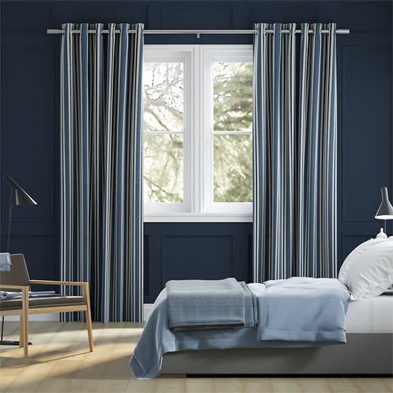 Twill Stripe Linen Denim Curtains