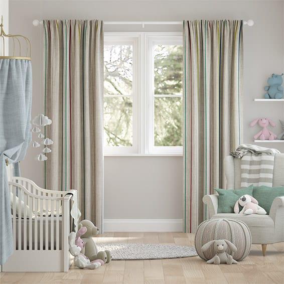 Twill Stripe Linen Fiesta Curtains