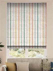 Twill Stripe Linen Mediterranean Roman Blind thumbnail image