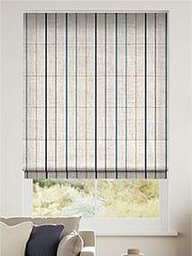 Twill Stripe Linen Ribbon Blue Roman Blind thumbnail image