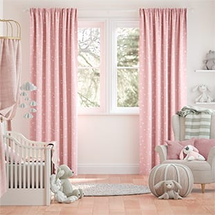 Twinkling Stars Candyfloss Pink Curtains thumbnail image
