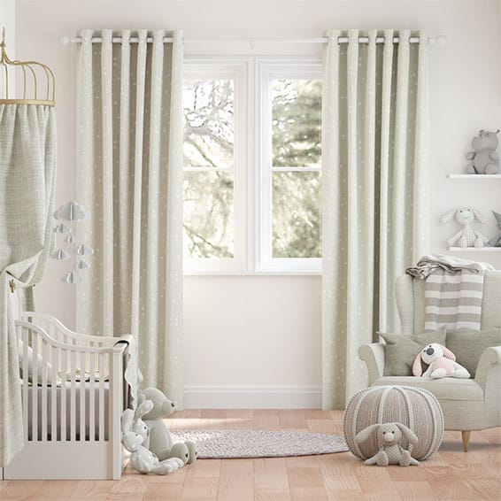 Twinkling Stars Cream Curtains