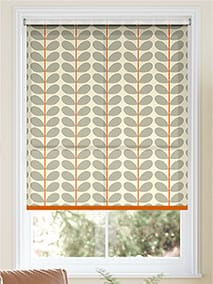 Two Colour Stem Warm Grey Roller Blind thumbnail image