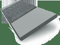 Urban Grey & Anthracite Faux Wood Blind - 50mm Slat slat image