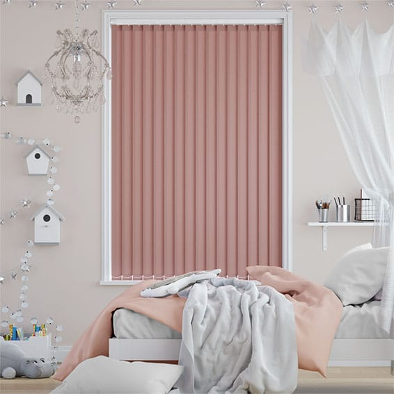Valencia Orchid Pink Vertical Blind