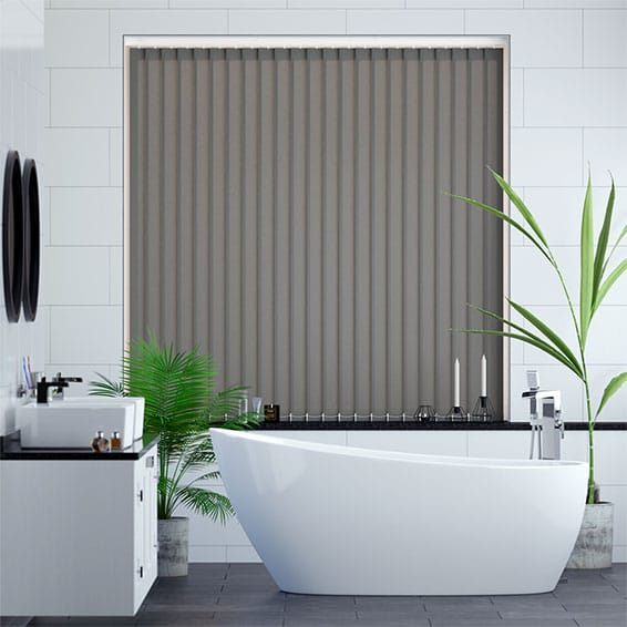 Valencia Simplicity Neutral Grey Vertical Blind