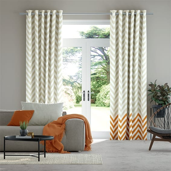 Vector Border Tangerine Curtains