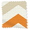 Wave Vector Border Tangerine Curtains slat image