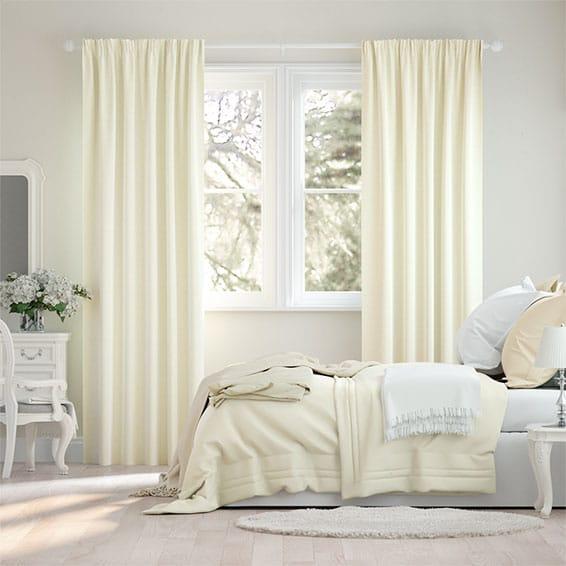 Plush Chenille Ivory Curtains
