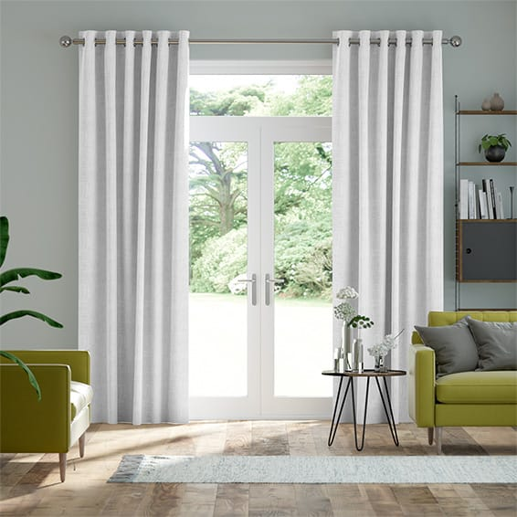 Velvet Pure White Curtains
